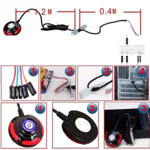 Image 5 - For Desktop PC Computer Case Power Supply on/off Reset HDD Push Round big Button Switch with 1.6m cable