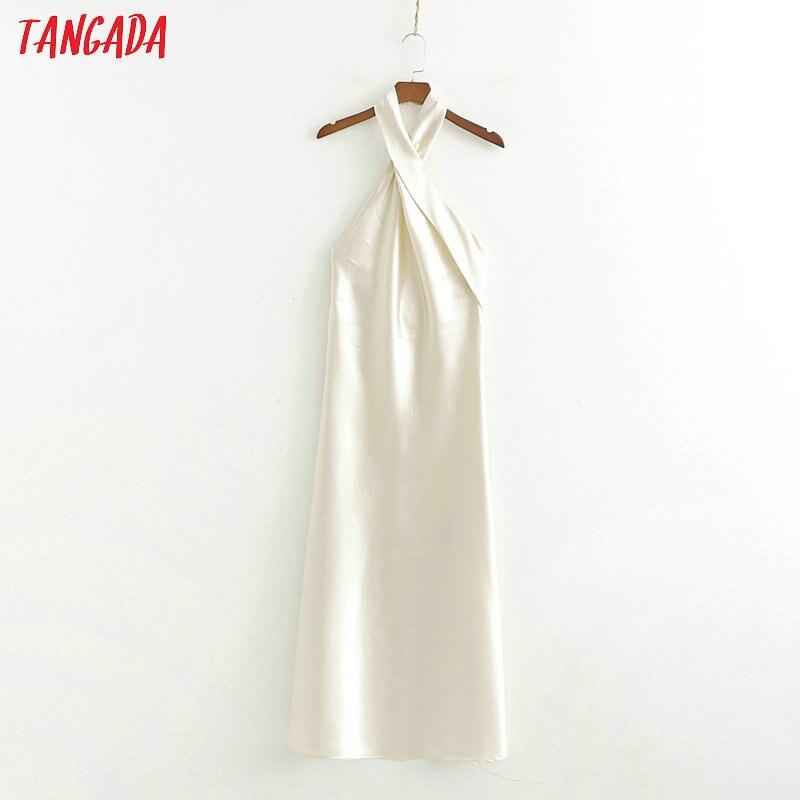 Платье Tangada женское, длинное, без рукавов, с перекрестной лямкой на шее, 2019
