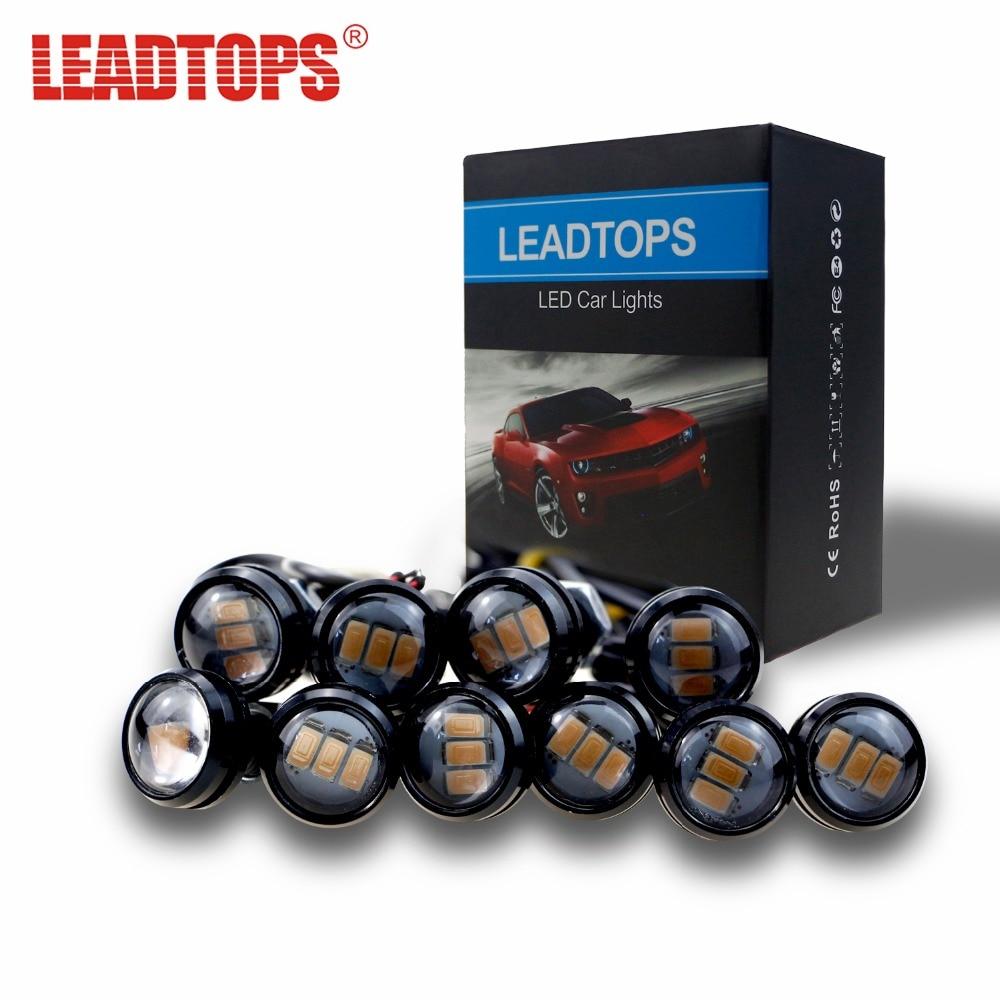 LEADTOPS 3 LED Car DRL Eagle Eye light Car Styling DIY 2.3Cm 500LM Waterproof Parking Lamp Tail LED Car Work Lights Source AJ