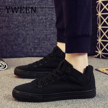 YWEEN Fashion Men Casual Shoes High Quality Men Canvas Shoes Breathable Lace up Men Sneakers