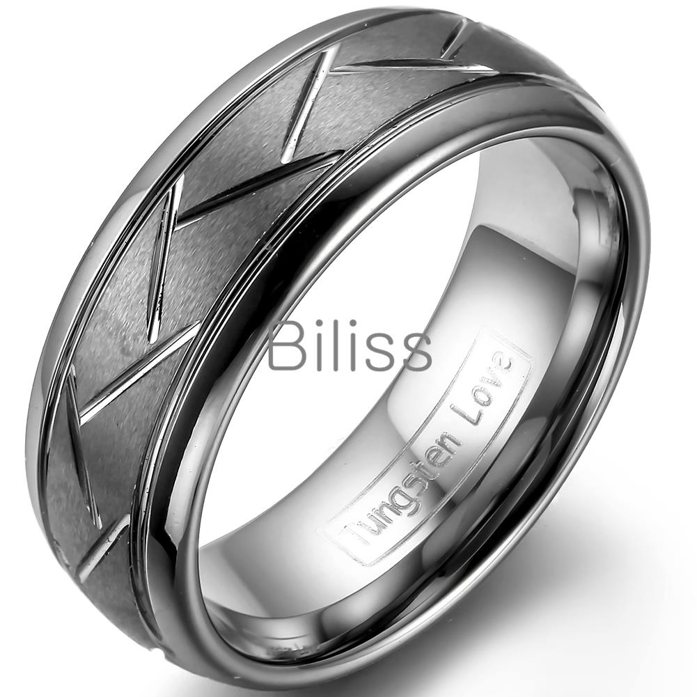 Aliexpresscom Buy 8mm Top quality Gray Brushed Finish Tungsten