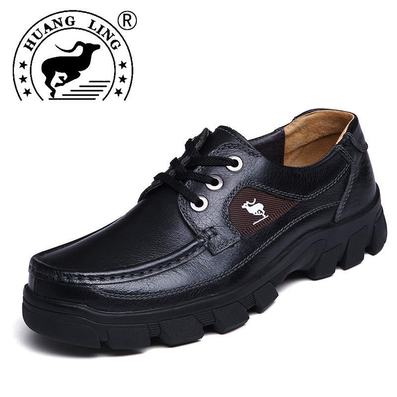 HUANGLING 2017 New Hot Sale Men Shoes Genuine Leather
