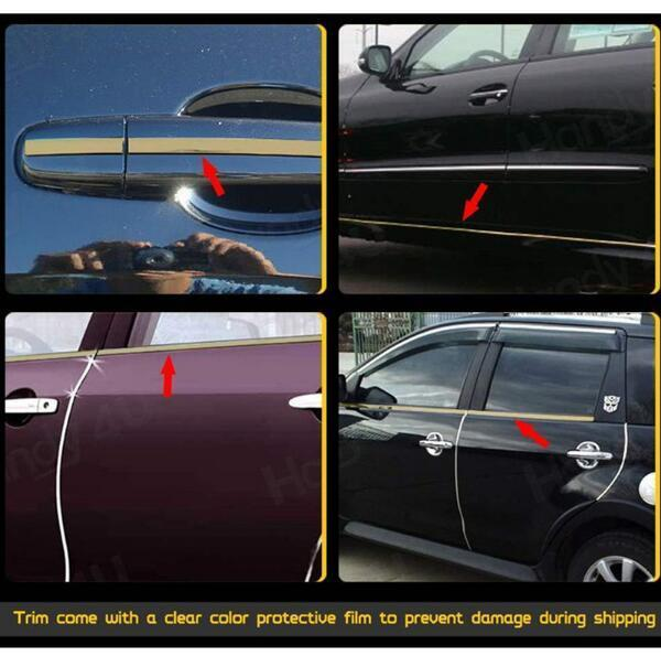 Image 5 - Car Chrome Decor Strip Sticker Silver Auto Styling Trim Strip Interior Exterior Decoration 6mm/8mm/10mm/15mm/20mm/22mm/25mm/30mm-in Car Stickers from Automobiles & Motorcycles