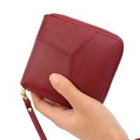 Geometric Wristband Women Wallet Female Short Zipper Lady Purse Large Capacity Card Holder Wallet Brand New