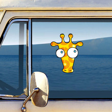 Funny Big Eyes Giraffe Car Sticker Styling 3D Fashion Wall Waterproof Reflective Vinyl Decal Diy Auto