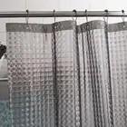 Happy Tree Peva 3D Водный куб утолщенная занавеска для душа 3D полупрозрачная Водонепроницаемая занавеска для ванной комнаты водяная блестящая зан... - 4