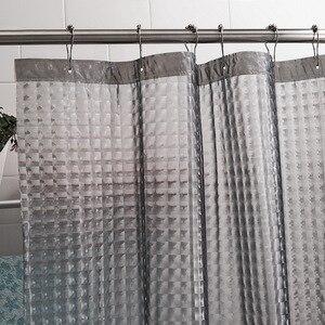 Image 4 - Happy Tree cubo de agua PEVA 3D, cortina de ducha gruesa, cortina de baño 3D semitransparente, impermeable, cortina de baño ostentosa de agua.