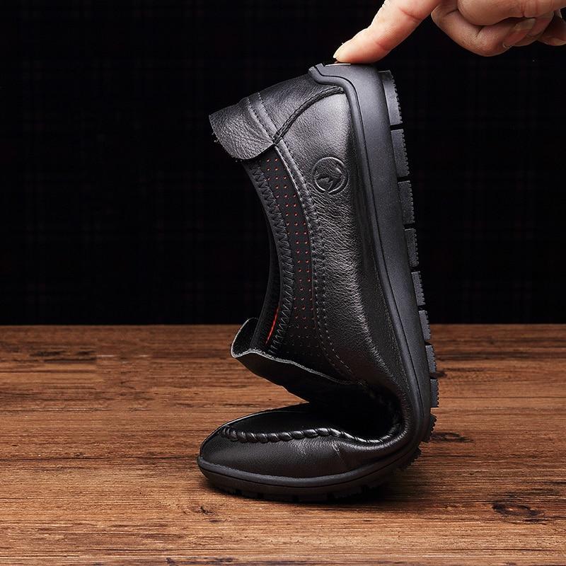 Удобные кожаные ботинки ручной - Мужская обувь - Фотография 4