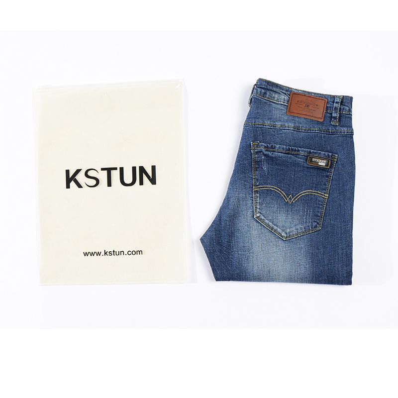 KSTUN Jeans Men Business Casual Summer Straight Slim Blue Jeans Stretch Denim Pants Trousers Classic Direct jean homme regular
