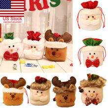 Лимит 1000, 1 шт., рождественские детские сумки для конфет, хлопковый мешочек, Санта Клаус, снеговик, подарочная сумочка на Рождество, Детская сумка, контейнер на шнурке