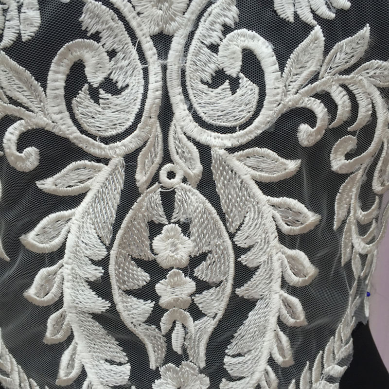 1 5 Pieces Lace Applique Lace Collar DIY African Fabric For Wedding Vintage Style Embroidery Lace Trim For Wedding Dress Decor in Lace from Home Garden