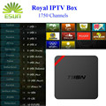 Mini IPTV MX plus com a Royal 1730 + livetv Árabe IPTV Francês Itália S905 T95N IPTV Caixa de TV Android Quad Core Amlogic Box TV Inteligente
