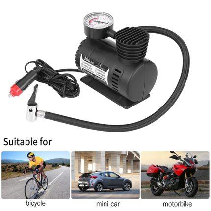Air Compressor vacuum pump 12V 300PSI Draagbare Emergency Luchtcompressor Elektrische Auto Motorfiets Band Inflator pomp