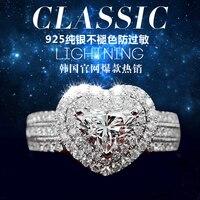 Love y30 multi-layer s925 pure silver artificial drill wedding ring sona ring female