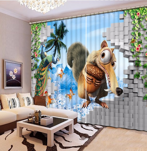 Children Room Curtains Home Wall Decor 3D Curtains For The Living ...