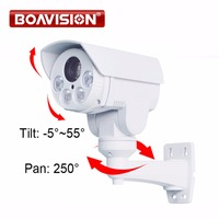 HD 1080P Mini Bullet PTZ IP Camera 2 0Megapixel 4X Zoom Manual Lens Pan Tilt Rotation