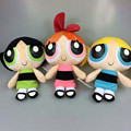 New Cartoon The Powerpuff Girls Plush Toys Bubbles Blossom Buttercup Stuffed Dolls Kids Baby Gift 3pcs/set 20cm