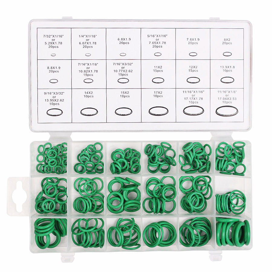 KINGGUARD 270 Pcs Kit Air Conditioning HNBR O Rings Seal Nitrile Rubber Car Auto Repair Tools Air Conditioning Refrigerant Ring 10pcs lot 9x5x2 mm o rings rubber sealing o ring 9mm od x 2mm cs
