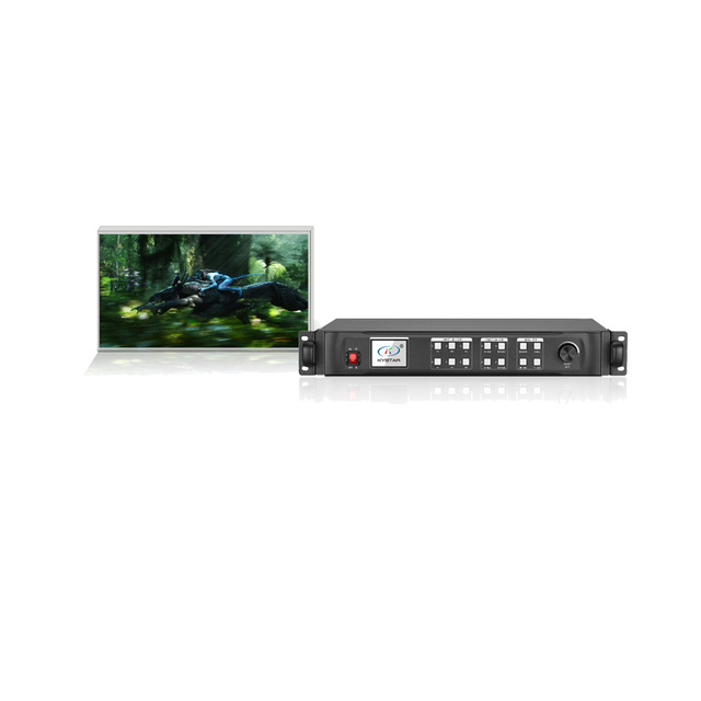 KYSATR KS600 video processor 1920*1200 Support 2 sending cards DVI VGA HDMI,LED Display Screen controller, Nova and Linsn