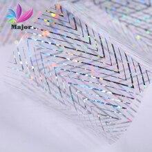 Linea di pizzo motivo decorazione lamina per trasferimento di unghie decalcomanie per nail Art lamina per trasferimento di arte adesivo per unghie punta decorazione facile JQ43