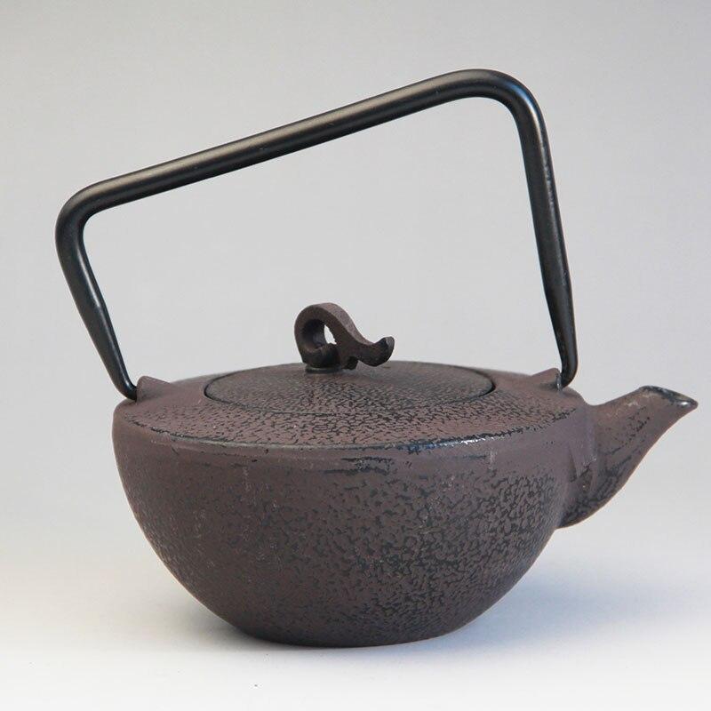 Cast Iron Tea Pot Set Japanese Teapot Tetsubin Kettle Drinkware KungFu Tools Stainless Steel Strainer Tea Kettle 450ml