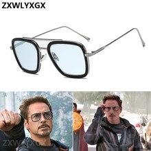╬ Роскошные Модные Мстители Тони Старк Стиль Полета Человек Солнцезащитные Очки Мужчины Квадратный