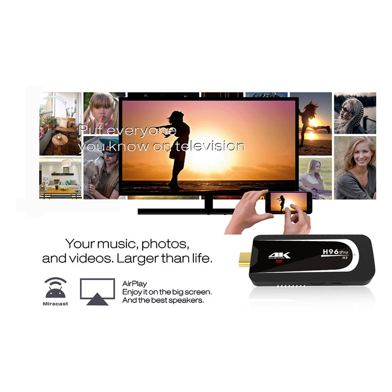 Wechip H96 Pro H3 2G 16G Android 7.1 TV box TV Dongle Amlogic S905X Quad Core 2.4G 5G Wifi Mini PC BT 4.0 4 K HD Smart TV Stick - 3
