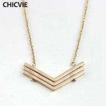 Chicvie романтические ожерелья из натурального камня Элегантные