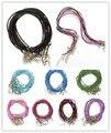Comercio al por mayor 10 unids Rojo Mezclado Negro Genuino Cuerda Del Collar de Cuero para Los Hombres de Las Mujeres