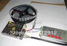 4 м DC5V 60 пикселей ws2811 встроенный из светодиодов цифровой полосы + SD карта контроллер + 60 Вт питания ; черный печатной платы, Водонепроницаемый силиконовой трубка