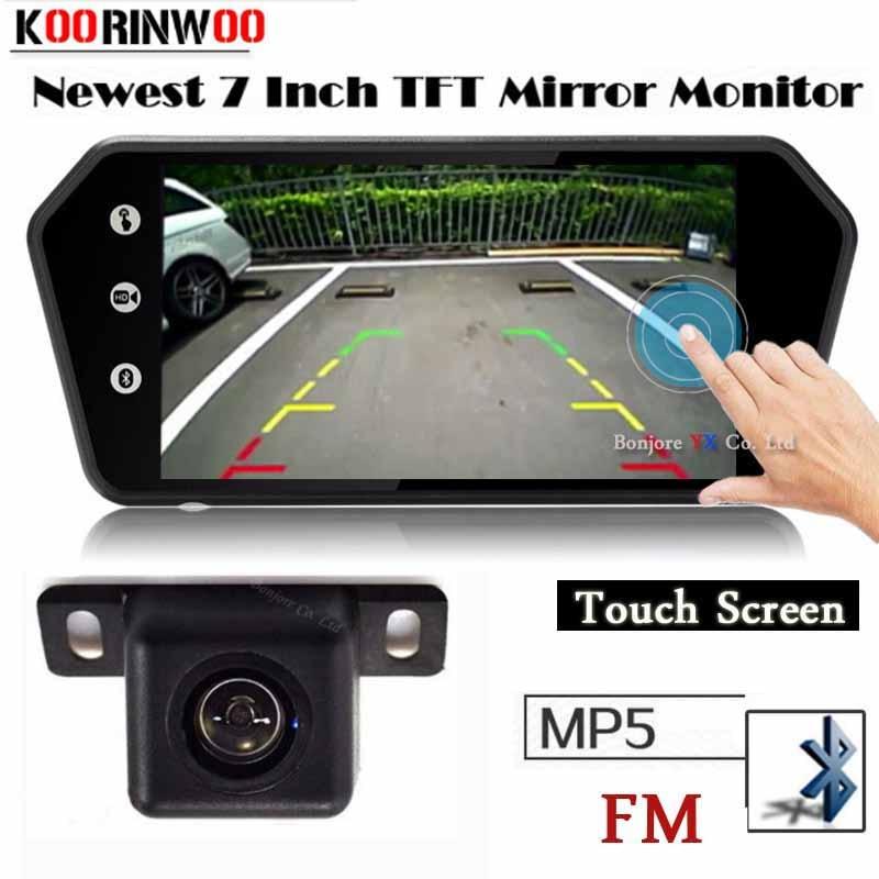 Koorinwoo sans fil Adopter moniteur de voiture écran tactile numérique 1024x600 USB Bluetooth MP5 lecteur explorateur caméra de recul Parking