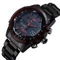 2016 marca de moda de design digital LED man masculino relógio aço frescos esporte militares pulso de natação de negócios de quartzo relógio de presente de luxo