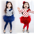 children clothing girls clothing sets kids clothes high quality cotton child clothing set fashions T shirt + dress pants
