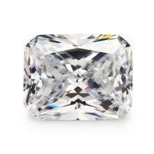 Tamanho 4x6mm stone 10x12mm aaaaa octangle zircônia cúbica solta branco cz pedra para joias