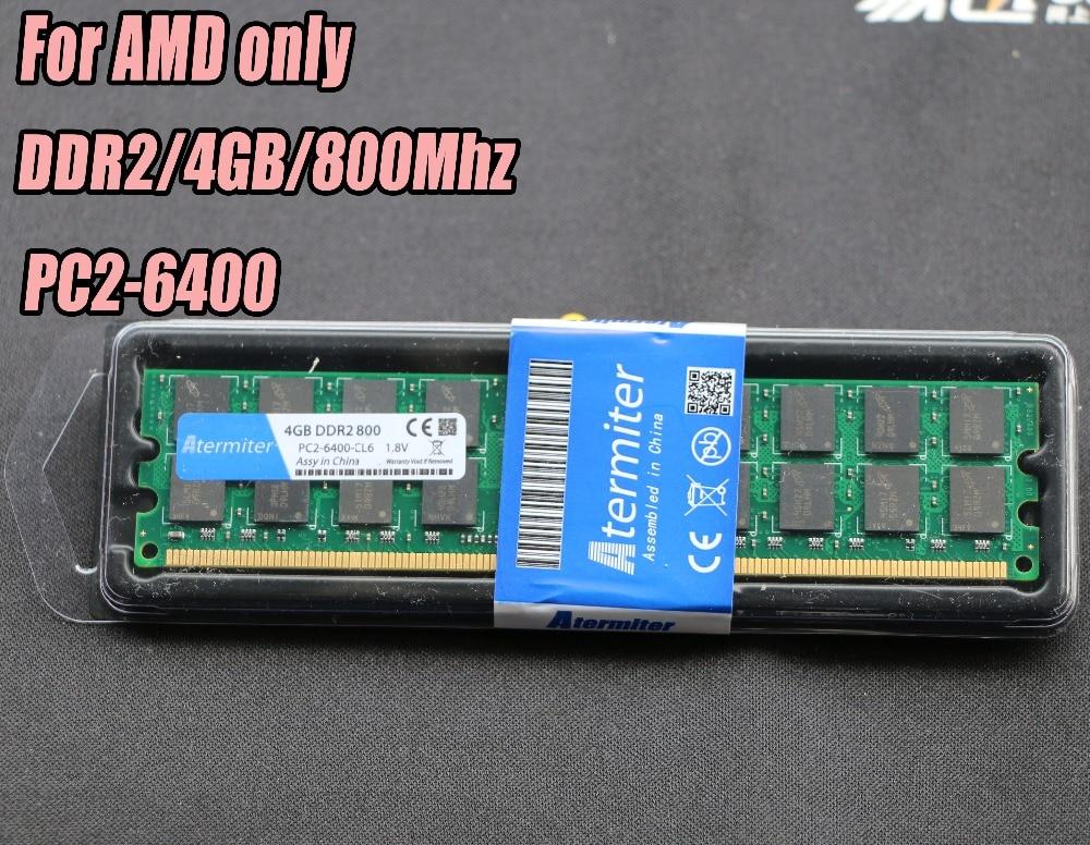 Nueva 4 GB DDR2 PC2-6400 800 MHz 667 MHz para PC de escritorio DIMM memoria RAM 240 pines para AMD sistema alta compatible 4G 800 667