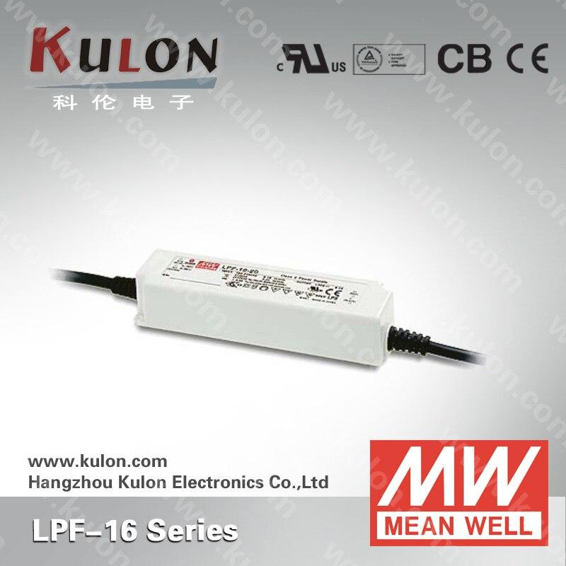 Оригинальный водонепроницаемый светодиодный драйвер Meanwell LPF-16-48 ac-dc 16,32 Вт 0.34A 48Vdc источник питания постоянного тока PFC светодиодный светодио...