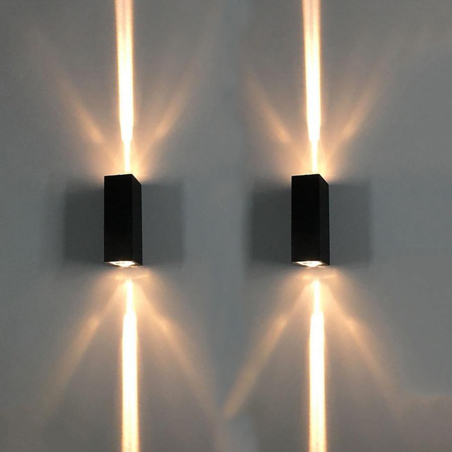 BEIAIDI Modern Waterproof Narrow Beam LED Spot Lamp Outdoor Garden Porch Wall Light Sconce Villa Hotel Exterior Wall Decor Light