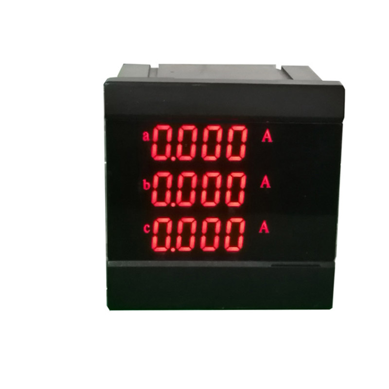 High Precision Professional Three Phase Mulit Function Digital Panel Ammeter Range 0-5A Panel Current Meter Monitor Tester high precision accuracy 0 56 5 digits dc ammeter digital amp meter panel meter led current tester gauge monitor
