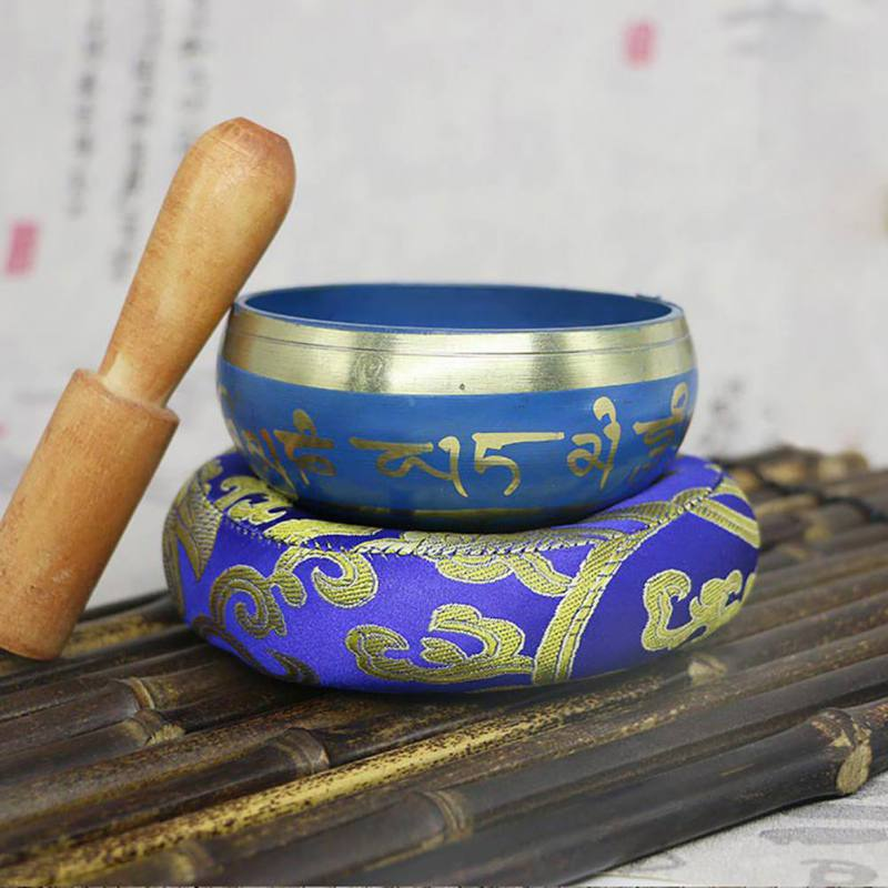 Bowl Handmade Nepalese Tibetan Buddha Singing Bowl Decorative Dishes With Mallet For Meditation Chakra Prayer Yoga Home Decor