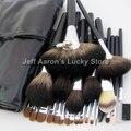 24 ШТ. профессиональный натуральных волос макияж кисти черный макияж щетки высокого качества оптом косметика