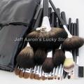 24 UNIDS profesional pinceles de maquillaje de pelo natural negro maquillaje cepillo conjunto cosméticos al por mayor de alta calidad