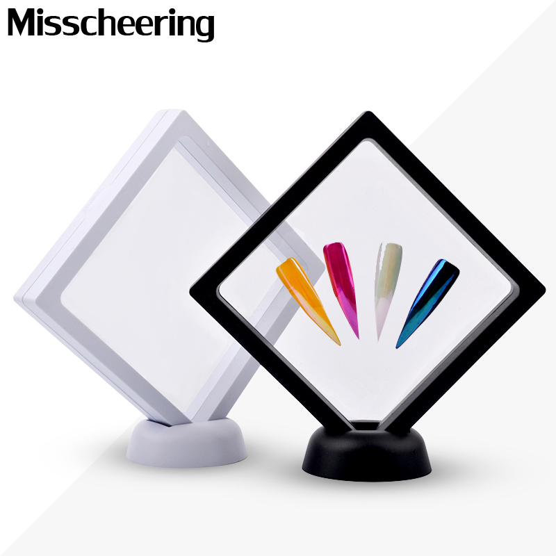 1 Pcs White/Black Nail Tips Display Stand Holder Acrylic With PET Membrane Nails Deigns Showing Board Manicure Nail Art Tools stylish 24 pcs smile expression pattern nail art false nails page 1