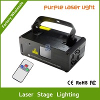 DHL Free shipping Purple laser Line scanner remote sound DJ dance bar Xmas Party Disco DMX lighting effect Light stage Show