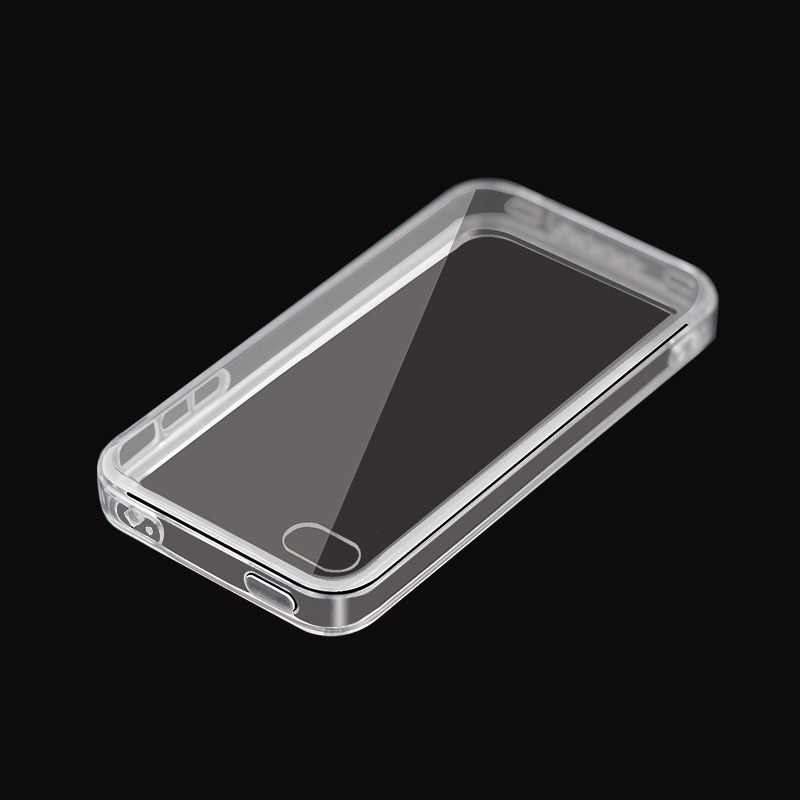 IQD For Apple iPhone 4S 4 Case, Scratch-Resistant Slim Clear Case For iPhone 4 cover tpu Crystal Clear Soft + hard combination