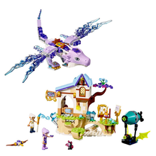Elfos Aira & The Song of The Wind Dragon Building Blocks 41193 Legoings Elfos Figuras Bricks Brinquedos Modelo Presente(China)
