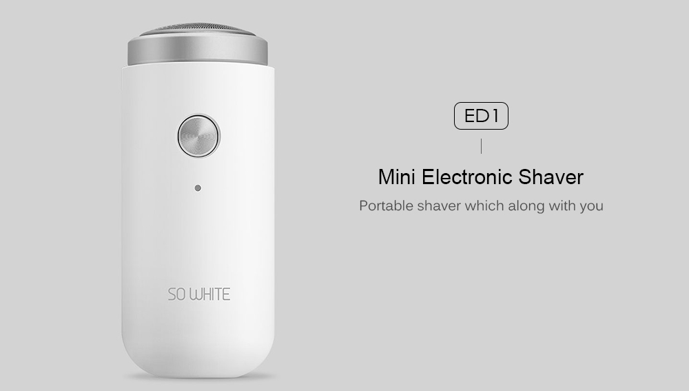 5-SOOCAS SO WHITE ED1 Mini Electric Shaver Razor USB Rechargeable Portable Beard Trimmer Washable for Men Dry Wet Shaving Xiaomi