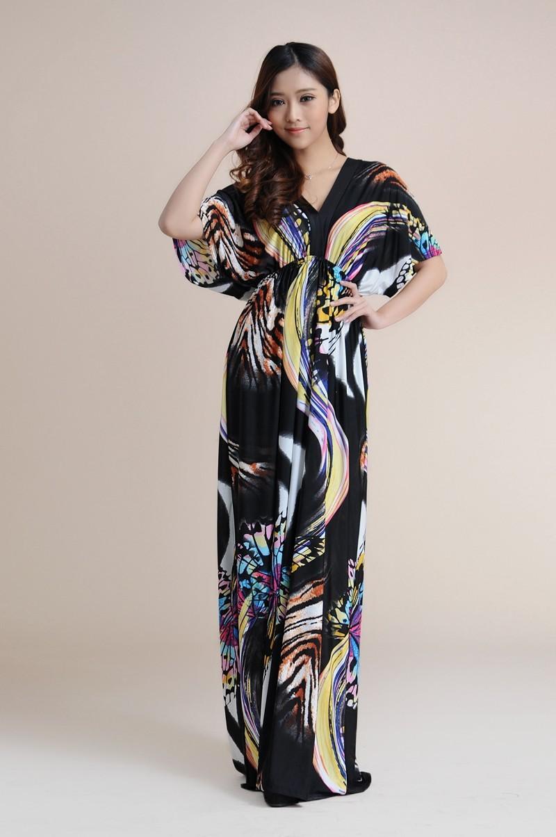 Boho Print Maxi Dress 6XL 14