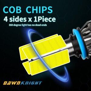 Image 2 - 4 Sides  H7 Led Bulb 9005 9006HB4 H8 H9 H11 H7 Led Lamp 12000LM 6000K Turbo Cooling Car Led Headlight 360degree Illumination