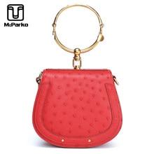 McParko Top-handle Bags For Women 2019 Luxury Ostrich Leather Handbag Ladies Evening Bag Fashion Wedding Female Gift Orange