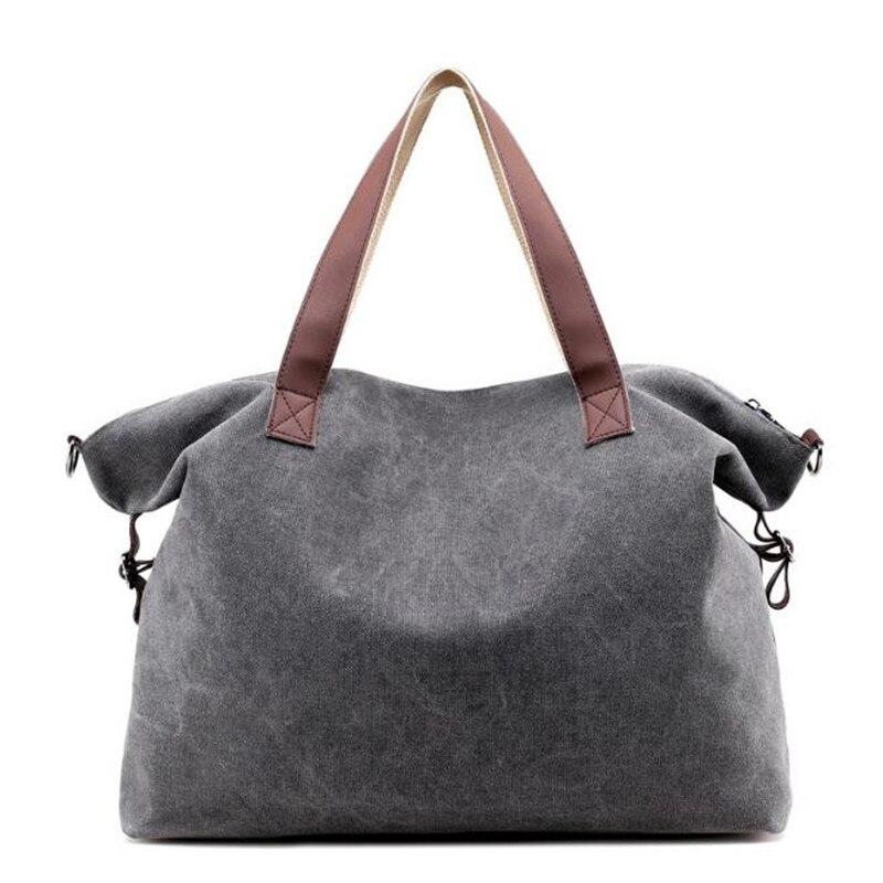 Vintage Canvas Bag Large Multifunction Hobos Bag Ladies Crossbody Bags Shoulder Bags